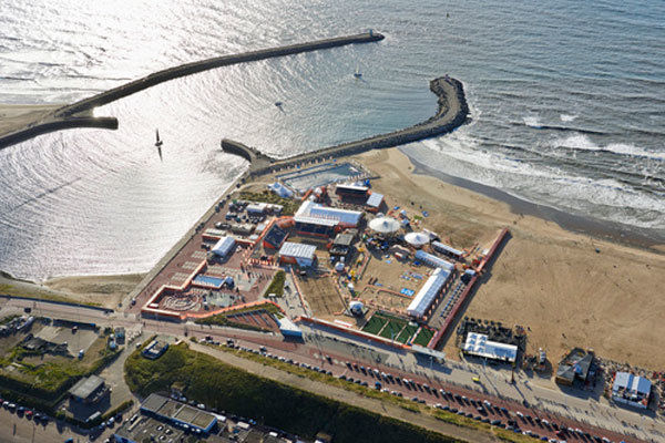 Airphoto The Hague BeachStadium Scheveningen